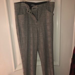 Express mid rise work pants